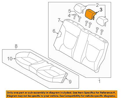 713q86U wZL._SX425_ amazon com hyundai oem 12 14 accent rear seat headrest, center