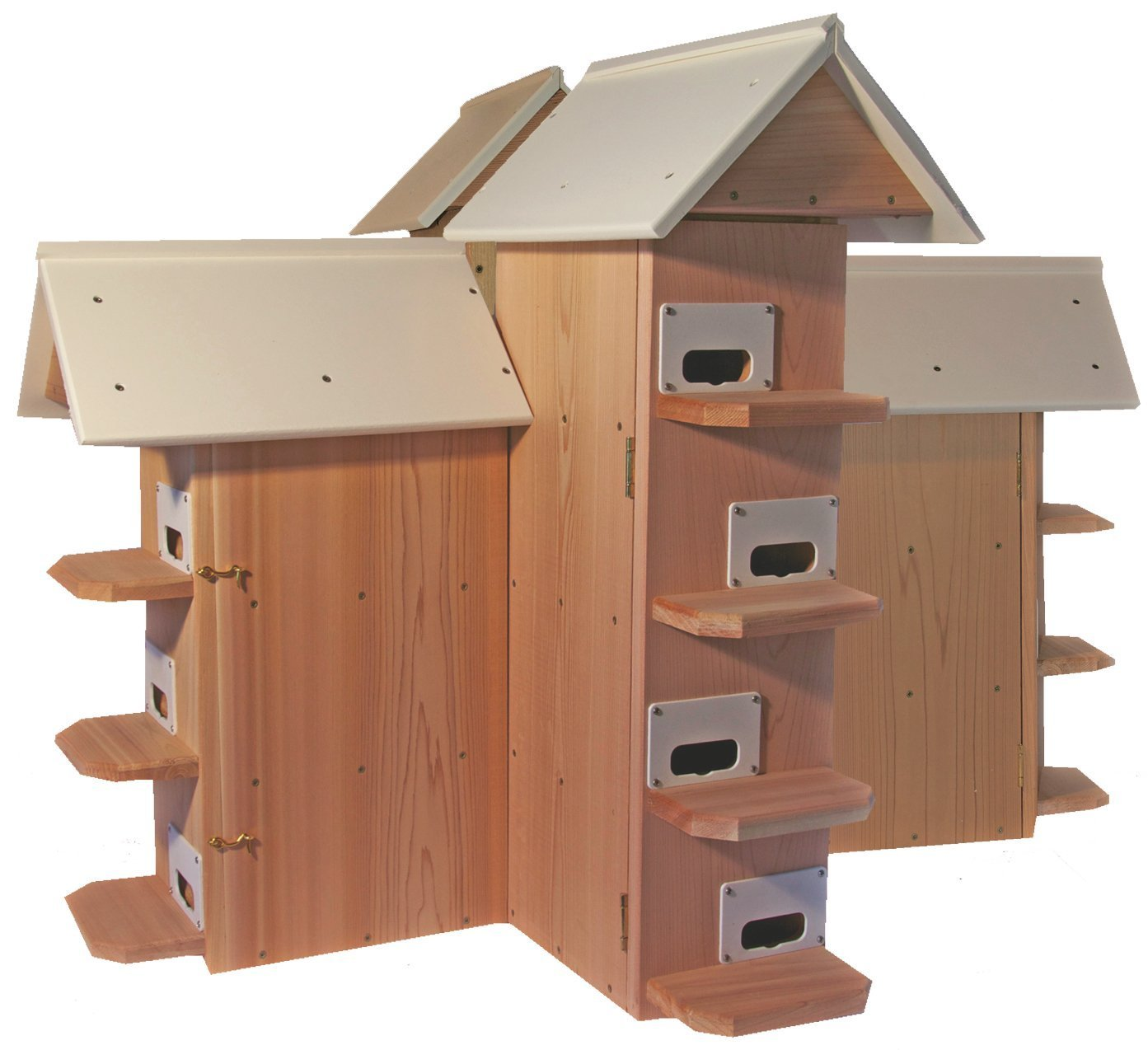 FMS Flying Martins T-14 Purple Martin Bird House - (Round Entrance)(Green Poly Roof)