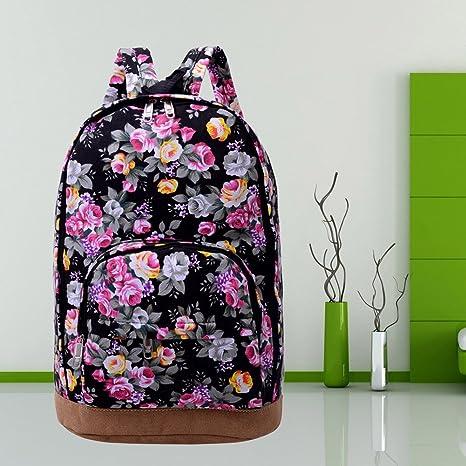 a6a8b2f775 Vintage Women Girl Canvas Travel Satchel Shoulder Bag Backpack School  Rucksack