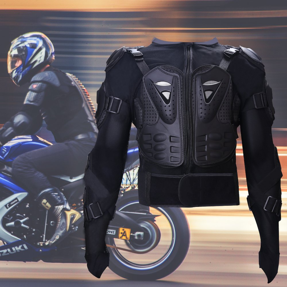 XL Tera Motorcycle Protective Jacket,Sport Motocross MTB Racing Full Body Armor Protector for Men