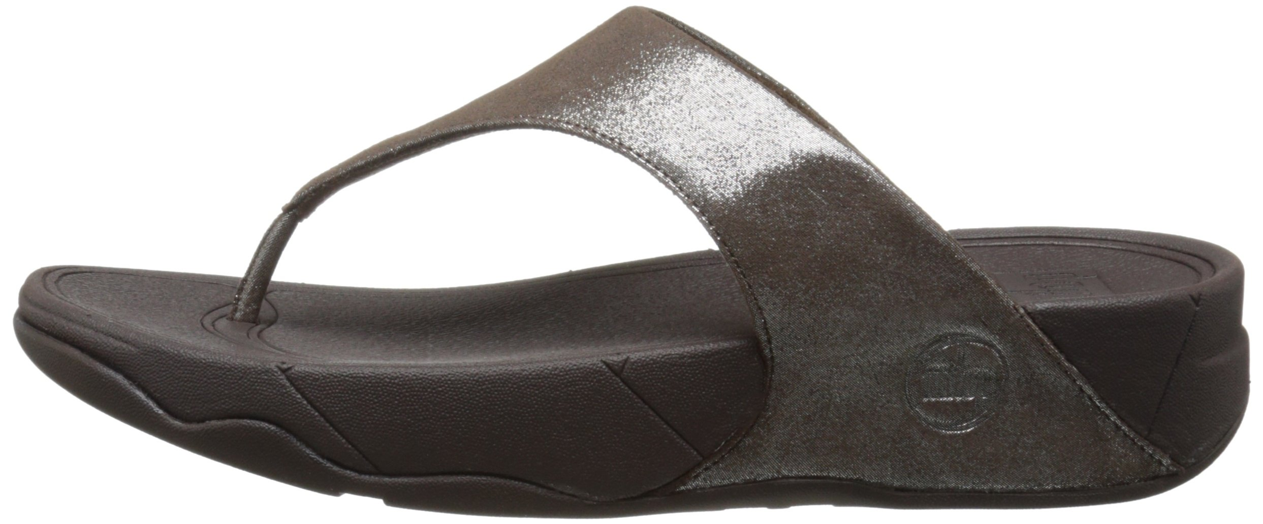 FitFlop Women's Lulu Shimmersuede Flip Flop, Bronze, 9 M US by FitFlop (Image #5)