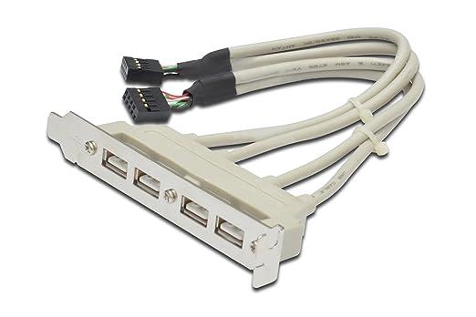 """4 opinioni per Digitus LP7114 Piastrina con 4 Connettori USB 2.0 Tipo """"A"""" Esterni, Connettore"""