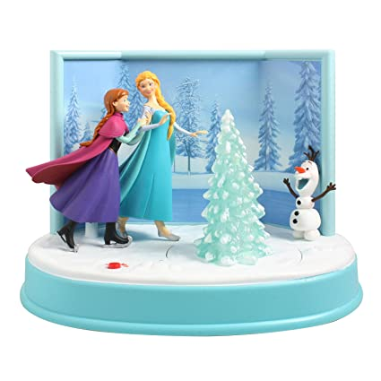 disney 675 musical animated frozen skating table top christmas decor - Musical Animated Christmas Decorations