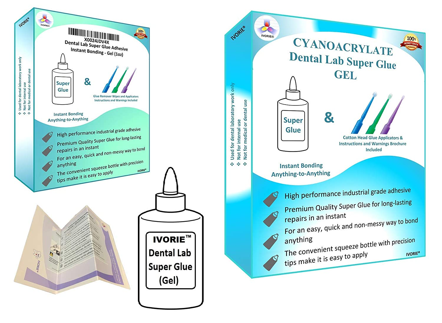 Dental Lab Super Glue Adhesive Instant Bonding - Gel (1oz)