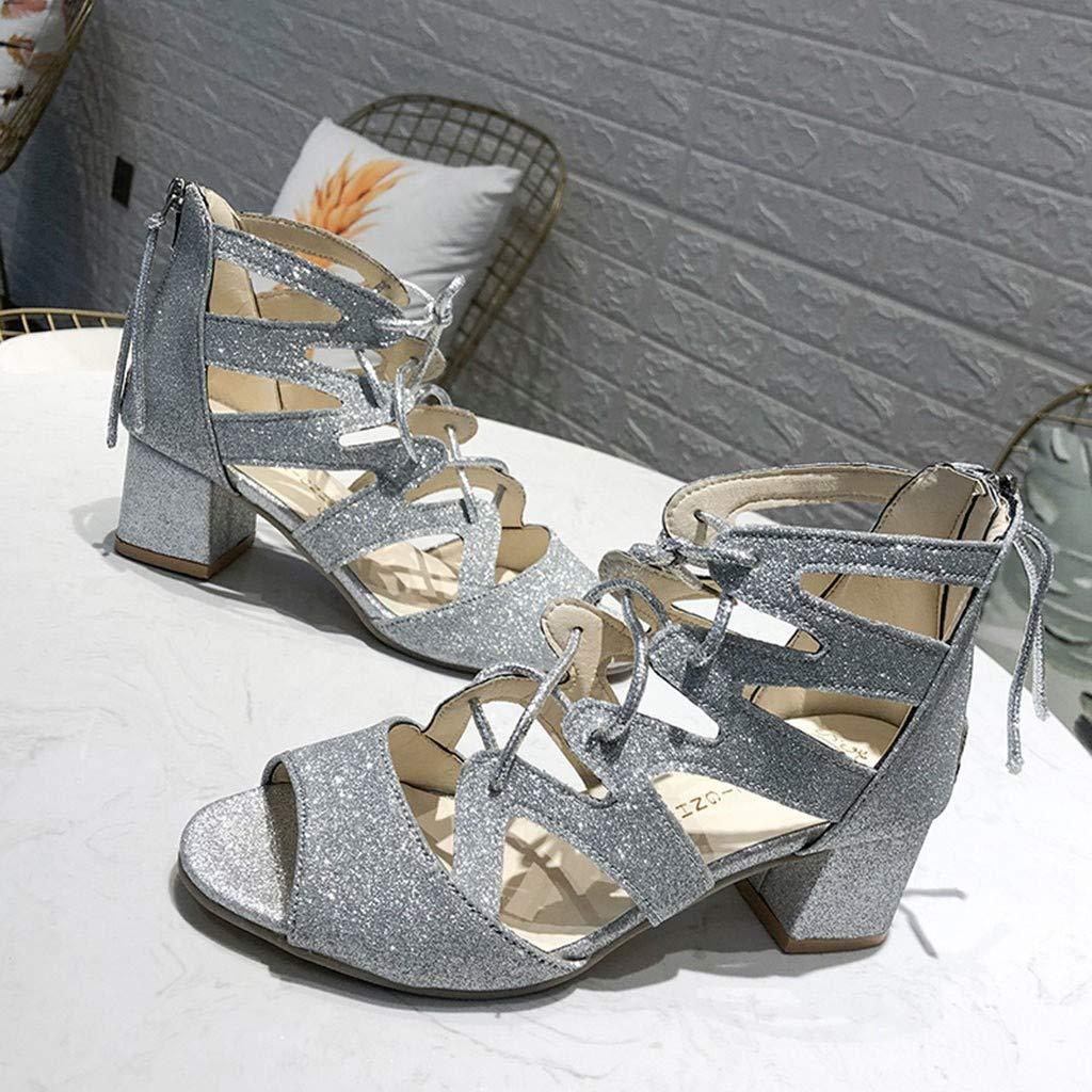 BEAUTYVAN Womens Espadrilles Lace Up Platform Low Heel Ankle Strap Wrap Summer DOrsay Sandals