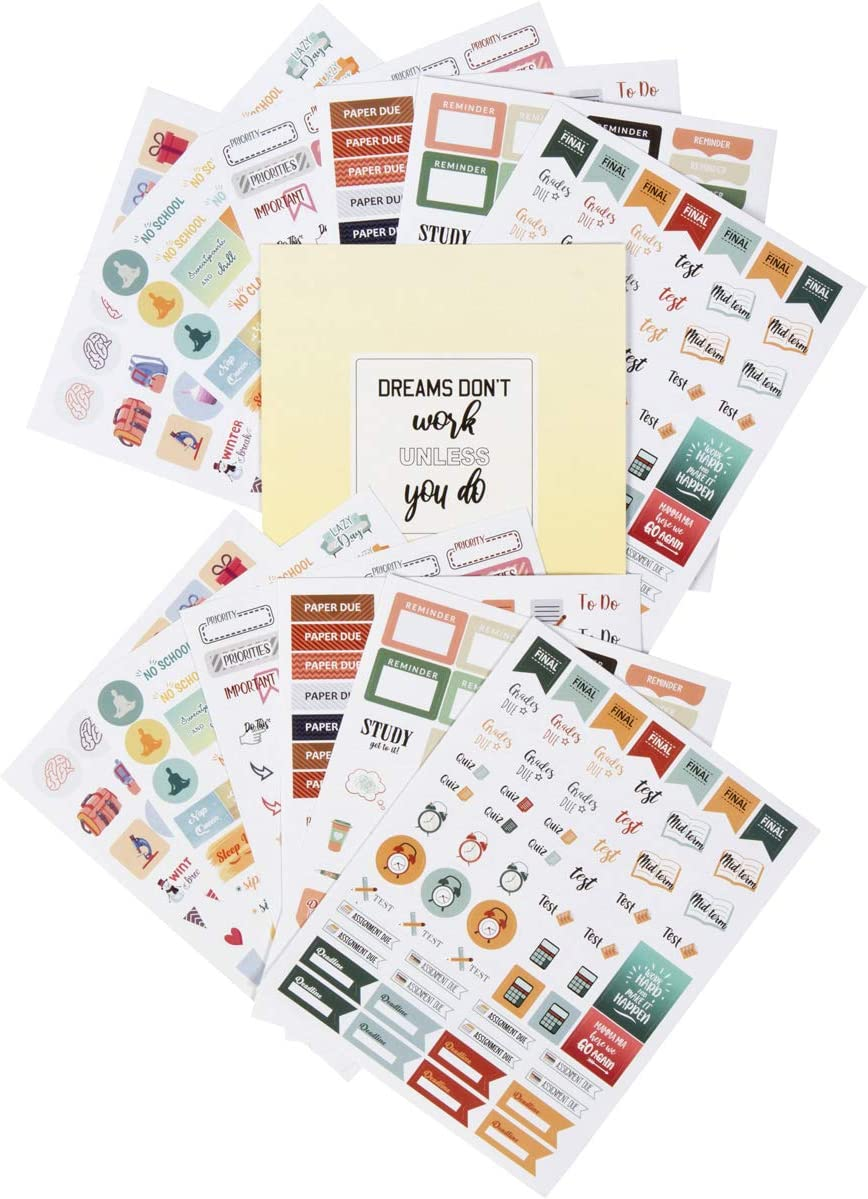 Lamare Student Planner Stickers – School & Study Supplies for College Students I Use with Teacher Planner, Academic Planner, Student Planner, Nursing School Essentials, Gifts Planner Accessories: Kitchen & Dining