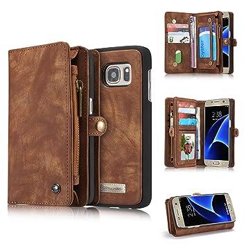 Just Hülle Für Samsung Galaxy S7 Edge Kunstleder Wallet Case Cover Handy Schutzhülle Cell Phones & Accessories
