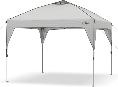 CORE 10 x 10 Instant Shelter Pop-Up Canopy Tent with Wheeled Carry Bag