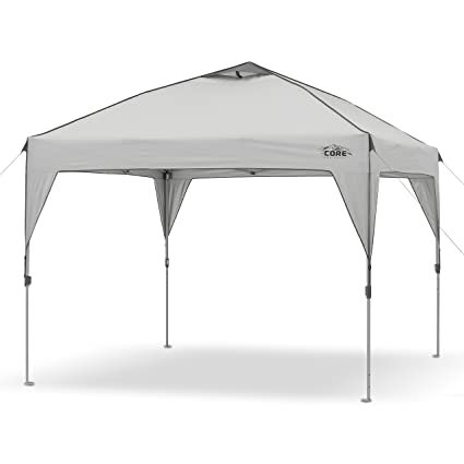 4f8ab626728 Amazon.com: CORE 10' x 10' Instant Shelter Pop-Up Canopy Tent with Wheeled  Carry Bag: Sports & Outdoors