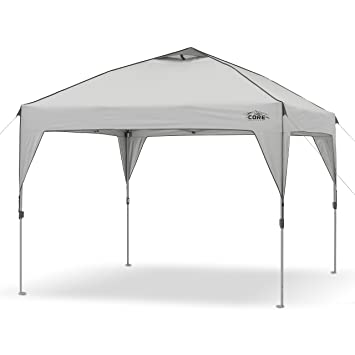 Amazon.com CORE 10u0027 x 10u0027 Instant Shelter Pop-Up Canopy Tent with Wheeled Carry Bag Gray Sports u0026 Outdoors  sc 1 st  Amazon.com & Amazon.com: CORE 10u0027 x 10u0027 Instant Shelter Pop-Up Canopy Tent with ...