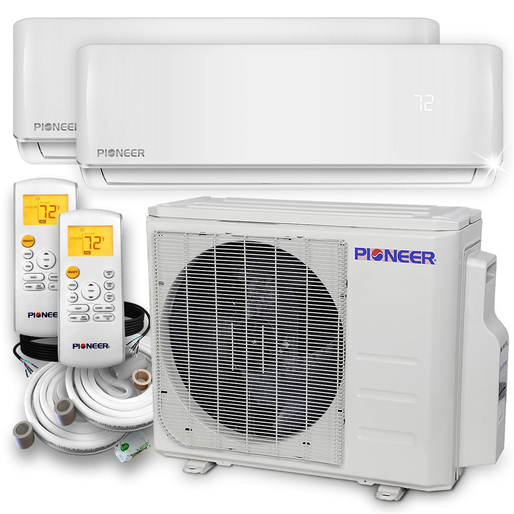 Pioneer Air Conditioner Wys020gmhi22m2 Multi Split Heat Exterior Electrical Wiring Heating Ventilation Conditioning Pump Dual 2 Zone Home Kitchen