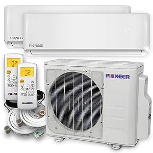 PIONEER Air Conditioner WYS020GMHI22M2 Multi Split Heat Pump, Dual (2 Zone)