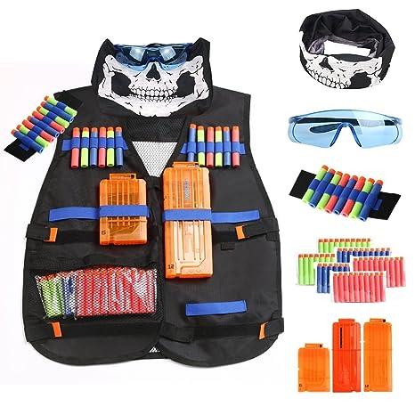 YaFex Tactical Vest Kit, Kids Elite Tactical Vest for Nerf Guns N-Strike  Elite