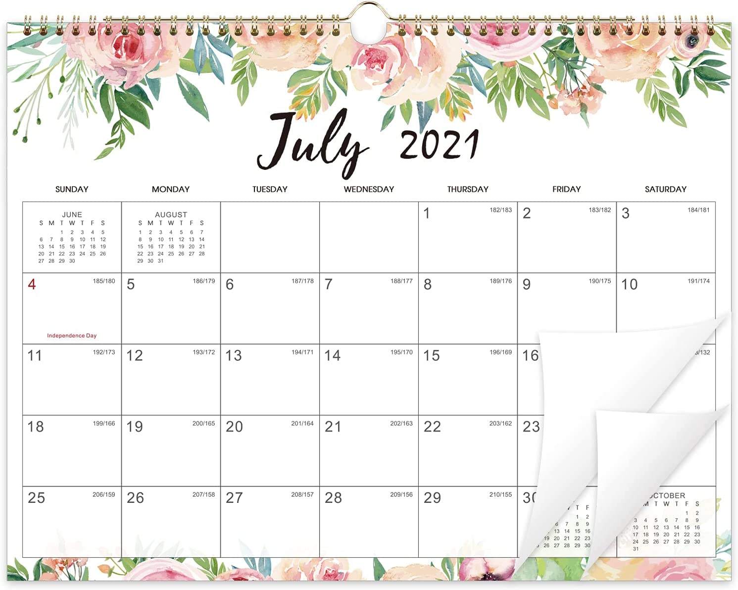Large Wall Calendar 2022.Amazon Com 2021 2022 Wall Calendar 18 Months Large Monthly Wall Calendar July 2021 Dec 2022 14 6 X 11 4 Large Ruled Blocks To Do List Notes Best Wall Calendar For Organizing Office Products