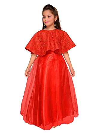 90a38485a61 Red Eye Kylon Navy Blue Designer Stylish Unique Party wear Kids Gown   Amazon.in  Clothing   Accessories