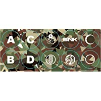 SNK Arcade Stick Pro Camo Button Stickers - Neo Geo Pocket