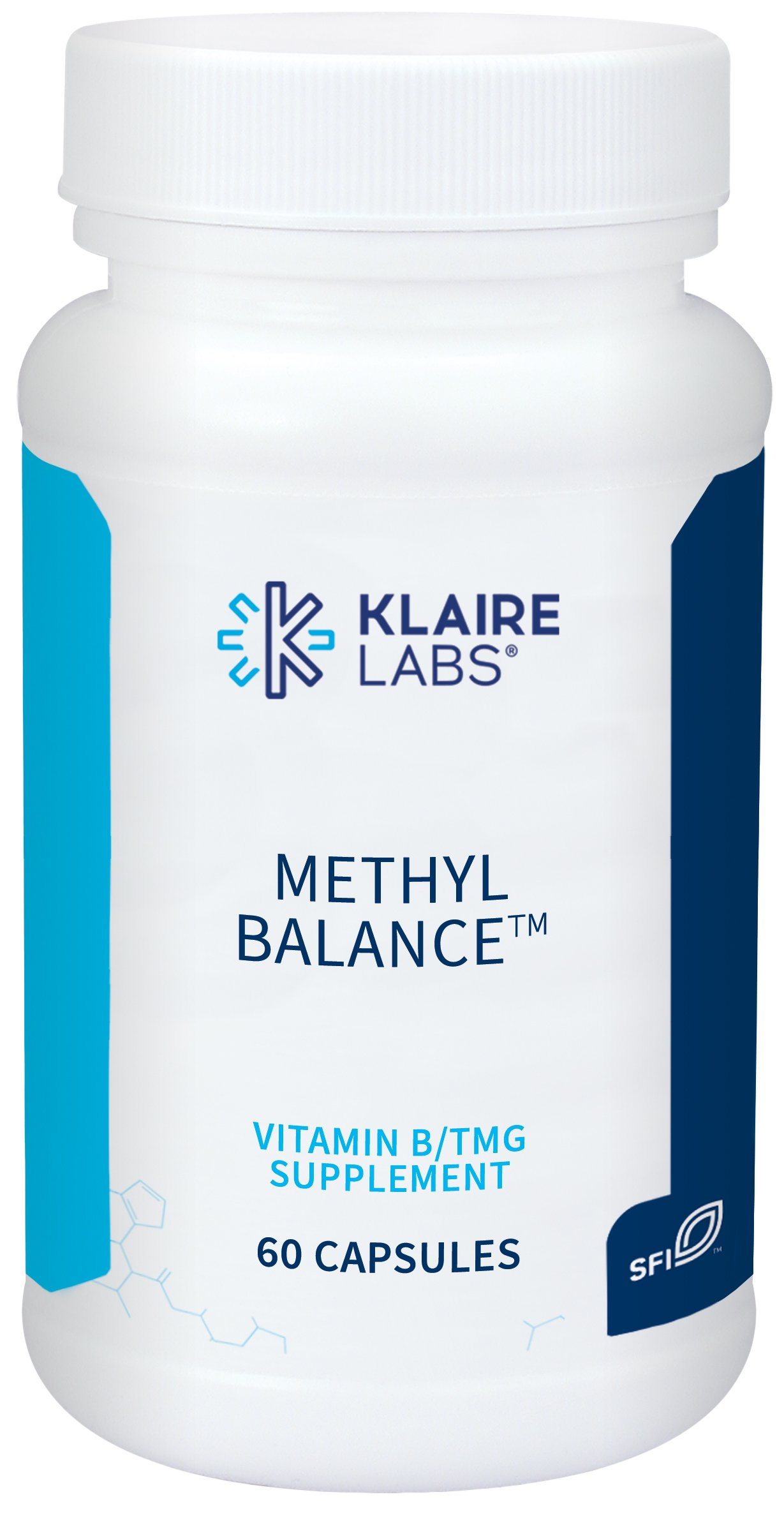 Klaire Labs (ProThera) Methyl Balance - Methylation Support with Active Folate, B2, B12, B6 and TMG (60 Capsules)