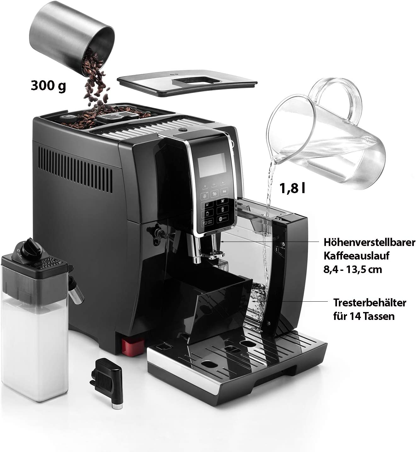 De'Longhi Dinamica ECAM 350.55.B - alle Funktionen