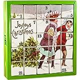 English Tea Shop Joyous X'mas Advent Calendar Nylon Pyramid, 50 Gram, 25 tea bags