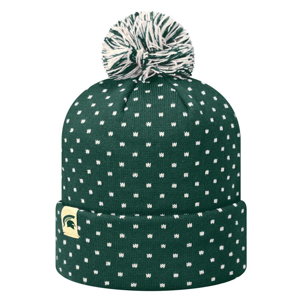fdf1648779b Amazon.com   Top of the World Firn Ladies Michigan State University Beanie  Knit Pom Pom Hat   Sports   Outdoors