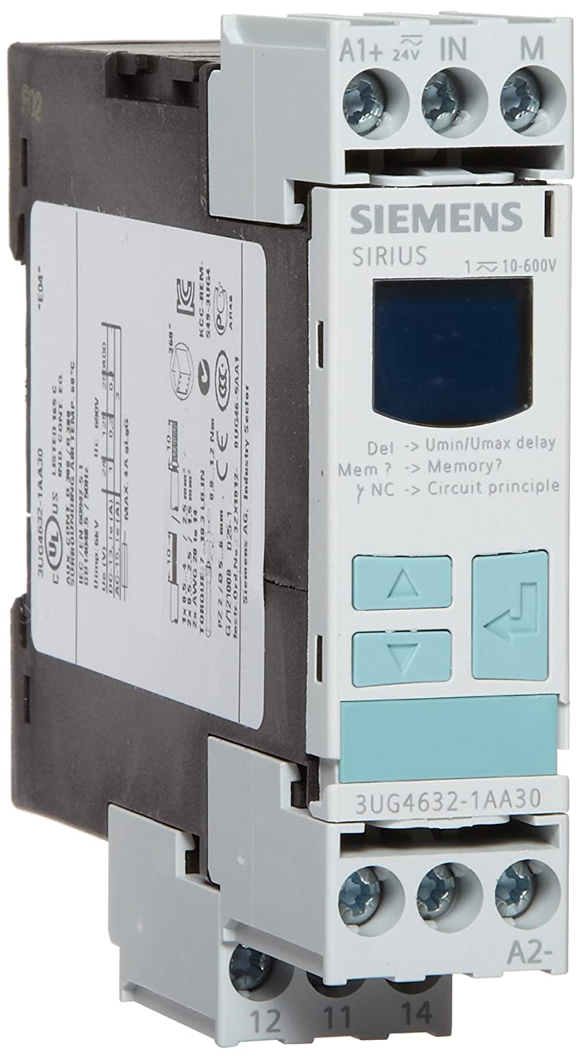 1 CO Contacts 10-600VAC//DC Measuring Range Single Phase Voltage Monitoring 0-20s Delay Time 24-240VAC//DC Auxiliary Voltage 0.1-300V Hysteresis Monitoring Relay Screw Terminal