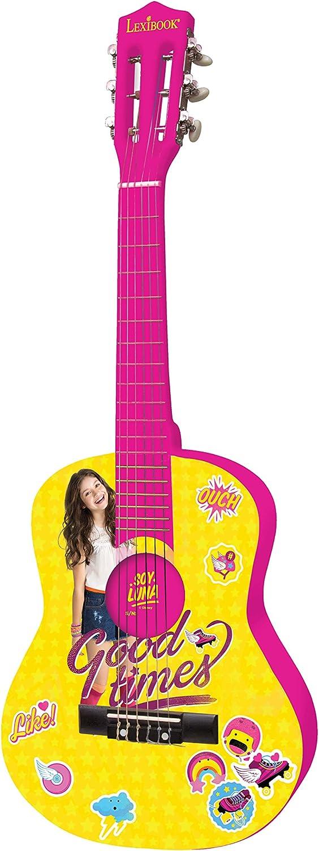 Soy Luna-Disney Guitarra Clásica De 6 Cuerdas, 78 cm Largo, Material de Madera (Lexibook K2000SL), Color Amarillo: Amazon.es: Juguetes y juegos
