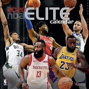 Amazon.: Turner Licensing, 2020 NBA Elite Mini Wall Calendar