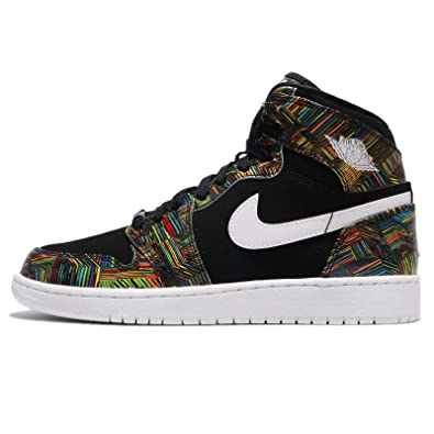 outlet store f5fe4 f915a Amazon.com  NIKE Jordan Air 1 Retro High GG BHM Black History Month Youth  Lifestyle Sneakers - 3.5  Shoes