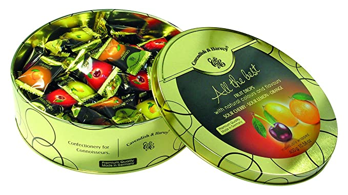 "Cavendish Caramelos""All the Best"" con Sabor a Cerezas, Limón y Naranja -"