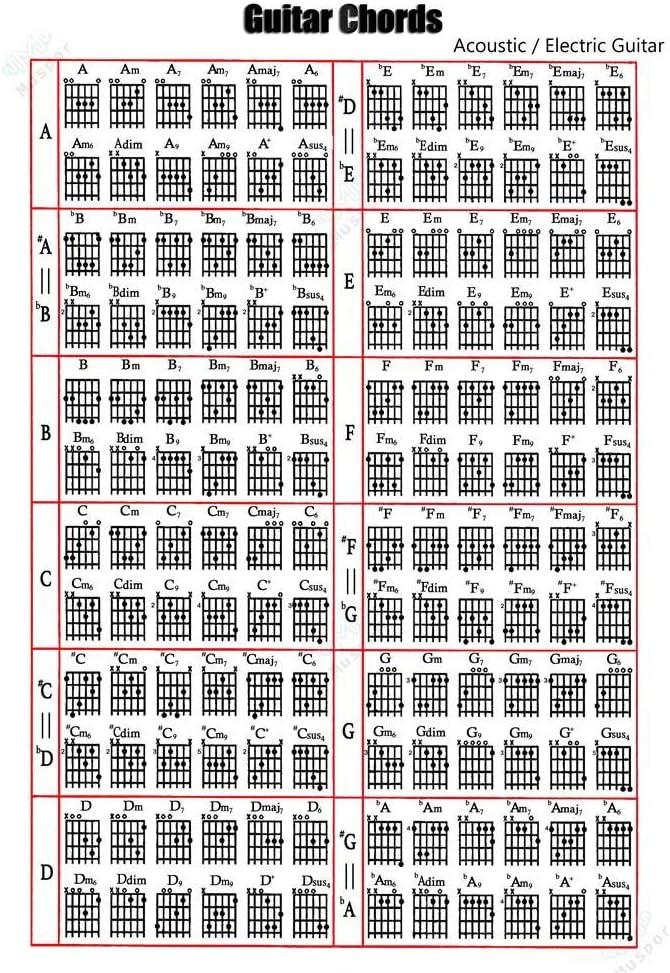 Guitarra acordeones mapa libro de tapa blanda acorde espectro para ...