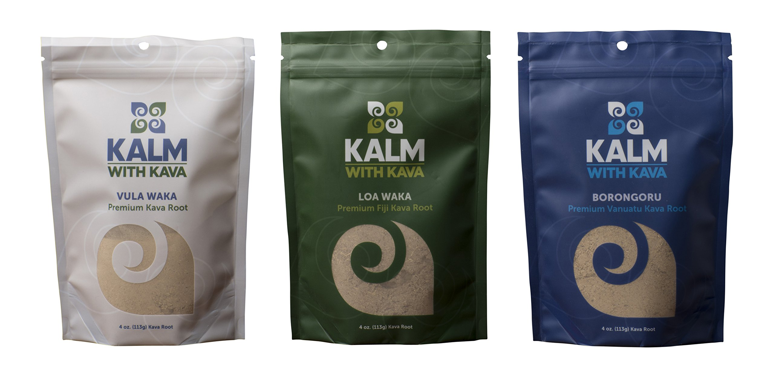 3 Kava Sample Pack Plus Strainers by Kava Kalm by Kalm with Kava