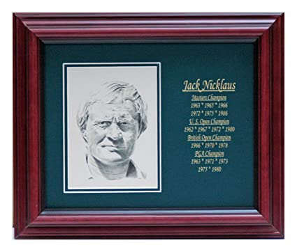 Amazon com: Jack Nicklaus postcard with engraved stats