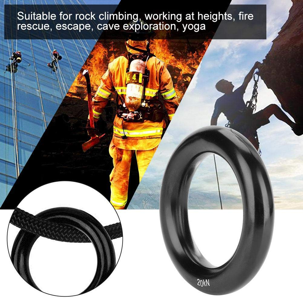 Climbing Rappel Ring Aluminum Multifunctional 12mm 20KN O-Ring for Outdoor Rock Climbing