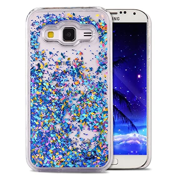huge selection of 33a26 cf82a Galaxy Core Prime Case,LEECOCO Unique 3D Diamond Floating Quicksand Shiny  Bling Glitter Flowing Liquid Transparent Clear Hard PC Protective Case for  ...