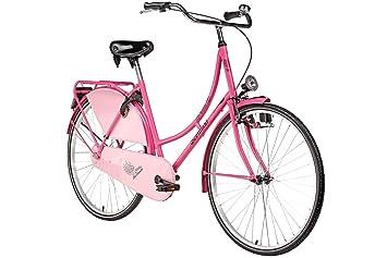 sneakers for cheap 2691b b5875 Bermuda Hollandrad 28 Valencia Stadtrad Damen Holland Fahrrad Citybike  Beleuchtung Gepäckträger Rücktrittbremse (pink)