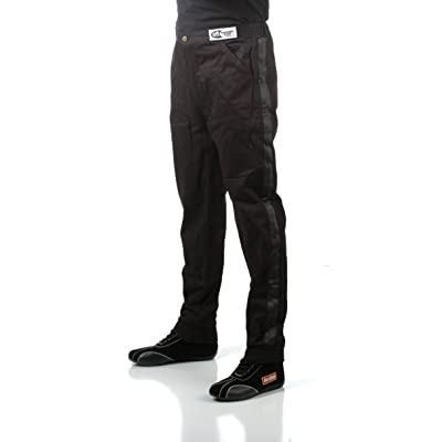 RaceQuip 112005 112 Series Large Black SFI 3.2A/1 Single Layer Driving Pant: Automotive