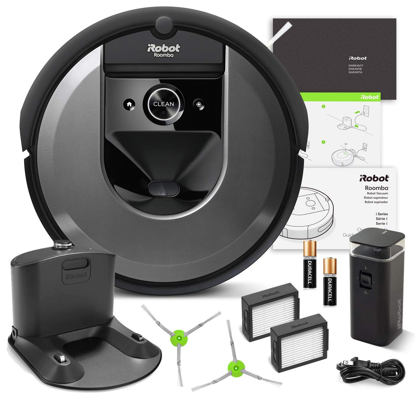 iRobot Roomba i7 (7150) Robot Vacuum Bundle- Wi-Fi Connected, Smart Mapping, Ideal for Pet Hair (+1 Extra Edge-Sweeping Brush, 1 Extra Filter)