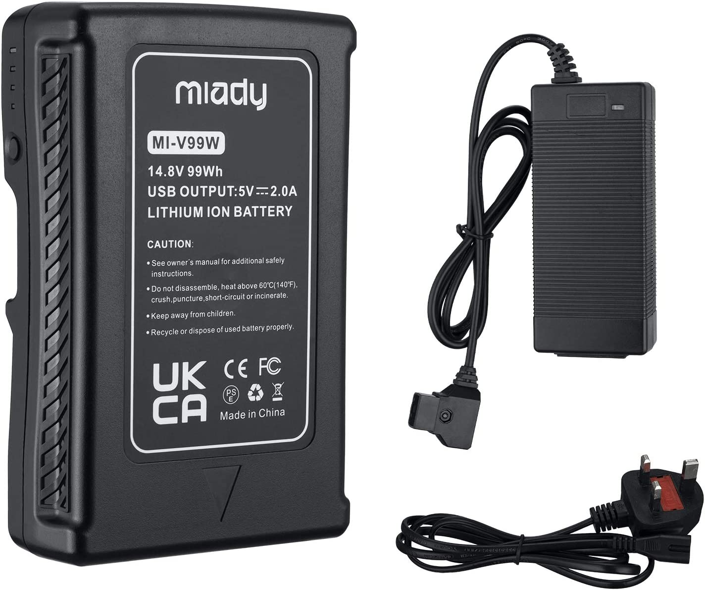 Video Camera Broadcast Replacement Brick with D-Tap Charger and ...