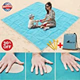 Sand Free Beach Mat Blanket Sand Proof Magic Sandless Sand Dirt & Dust Disappear Fast Dry Easy To Clean Waterproof Rug Outdoor Camping Mat