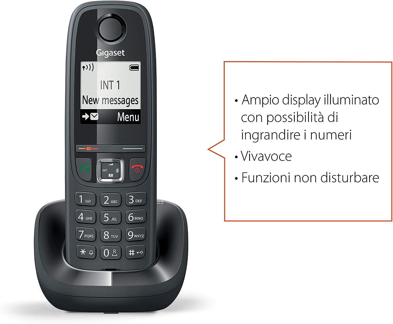 Gigaset AS405 - Teléfono DECT, Negro [Versión Importada]: Amazon.es: Electrónica