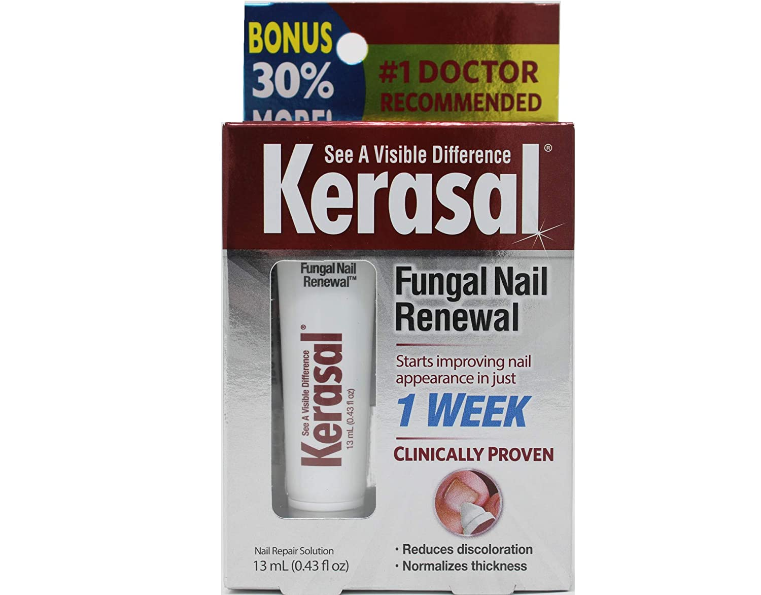 Kerasal Nail Fungal Nail Renewal Treatment 10ml (2 Pack)
