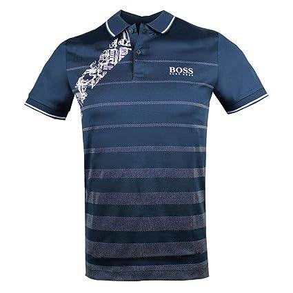 918cfbc38cf Amazon.com  Hugo Boss Mens Golf Polo Shirt 50389097 410 Paule Pro 2 Navy   Clothing