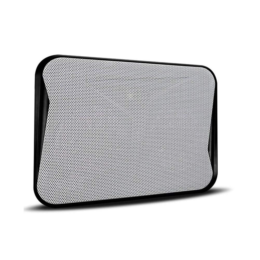 Kangsur Portable Laptop Cooler Silent Adjustable Ergonomic Detachable Notebook Cooling Pad,Black