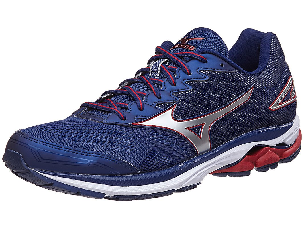 Blue And Red Wedge Shoe Rider Sport Boxer R 383 Mizuno Wave 20 2e Mens Running 8 Depths Silver