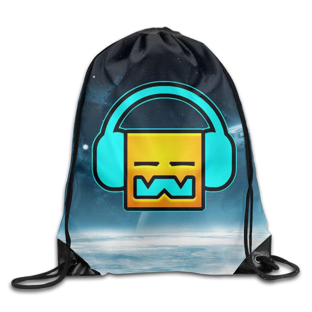 WLHZQS Geometry Dash Robtop Games Unisex Drawstring Bag