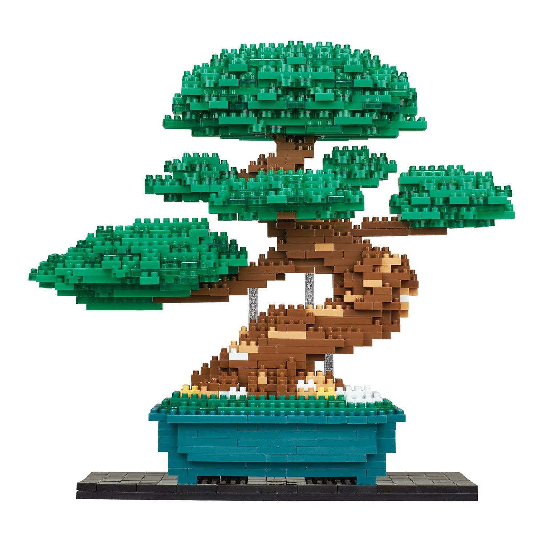 Nanoblock Bonsai Matsu Deluxe Edition Building Kit, Green