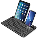 Multi-Device Bluetooth Keyboard, Jelly Comb Rechargeable Wireless Bluetooth Keyboard Switch to 2 Devices for Cellphone…
