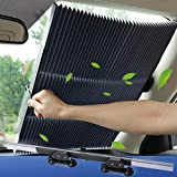 Car Windshield Sun Shade Cover Car Curtain, Retractable Sun Protection Sunshades, Easy to Install and Use, Can be…