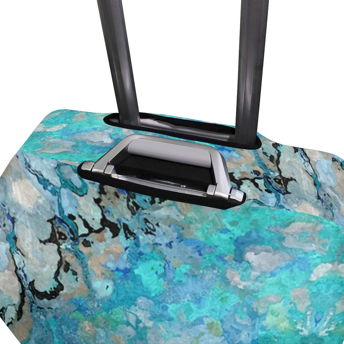 Marble Art Blue Abstract Traveler Lightweight Rotating Luggage Cover Can Carry With You Can Expand Travel Bag Trolley Rolling Luggage Cover