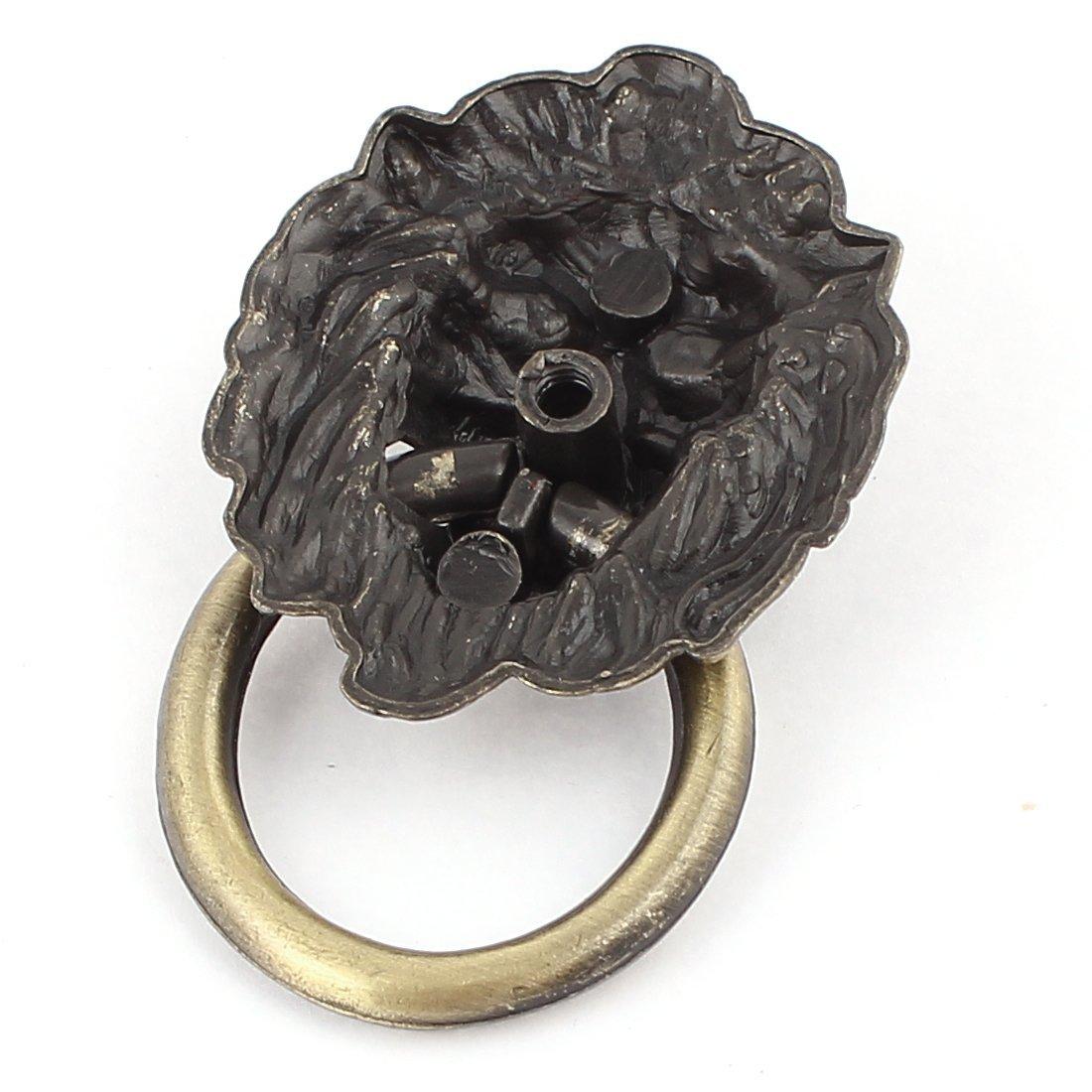 Vintage testa del leone anello Dresser Governo del cassetto porta Maniglione 5pcs
